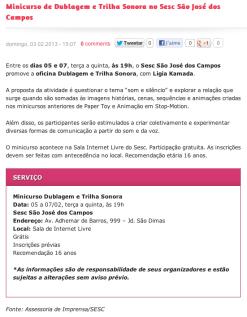Minicurso Trilha Sonora| Sesc São José